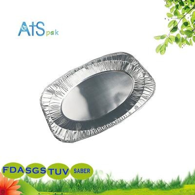 Disposable BBQ oval aluminum foil plate
