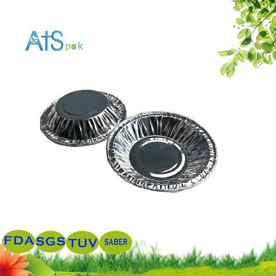 Disposable aluminum foil container for egg tarts