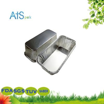 Disposable rectangular aluminum foil food takeaway container