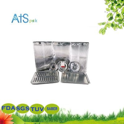 Aluminum foil oil baffle for kitchen