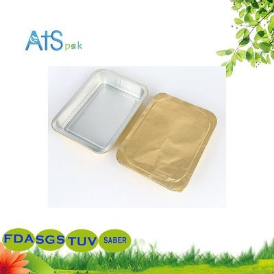 Aluminum foil take away container